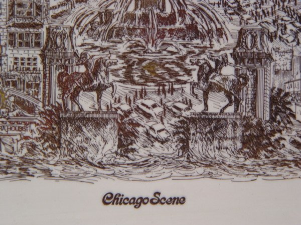 240: John K. Thompson Chicago Scene Marble - 3