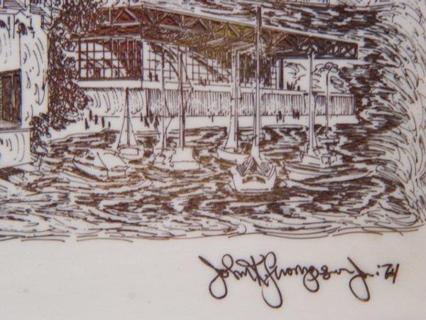 240: John K. Thompson Chicago Scene Marble - 4