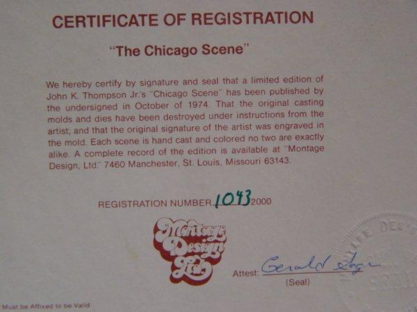 240: John K. Thompson Chicago Scene Marble - 5