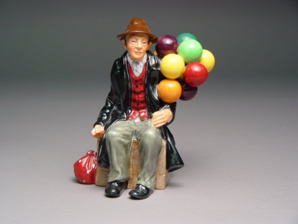 101: Two Royal Doulton Figurines Balloon Sellers