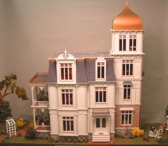 134: Lawbre Fully Furnished 4 Story Victorian Dollhouse