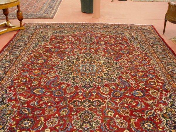 1025: Persian Semi-Antique Mashad Carpet