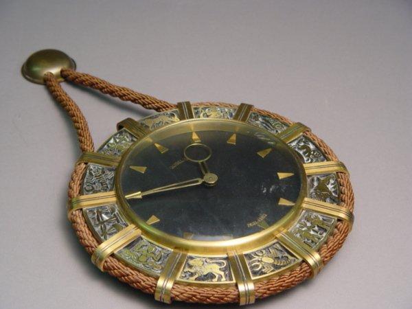 1004: Gubelin Zodiac Brass Wall Clock