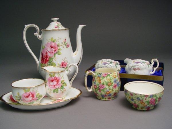 1010: Royal Albert Coffee Set American Beauty Pattern T