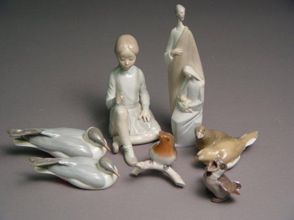 1012: 5 Piece Figurine  Lladro & B & G