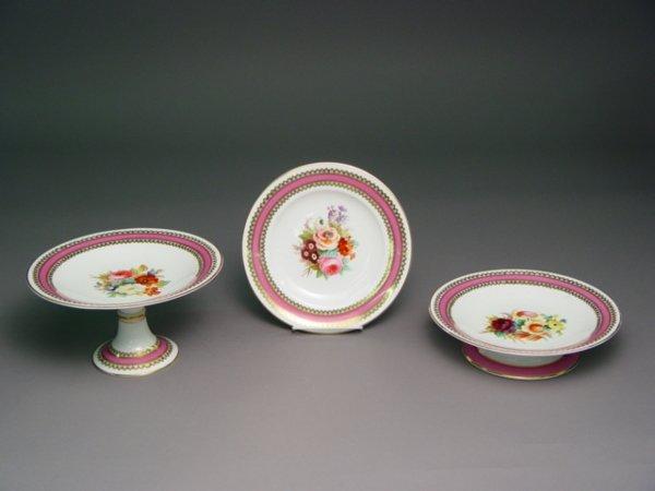 1023: 19th c. English Porcelain Dessert Service