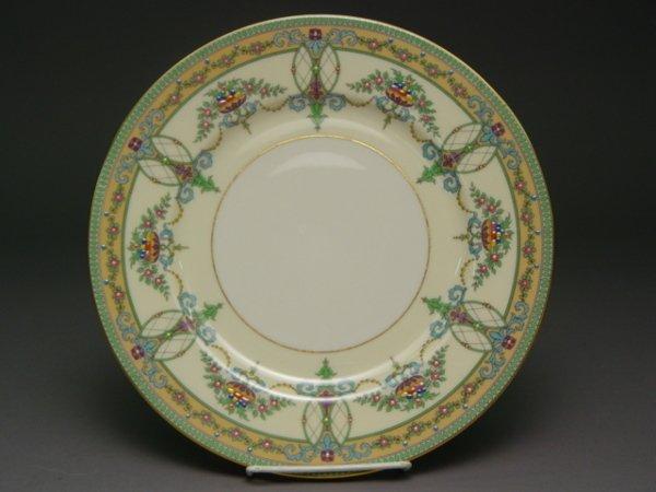 1024: 12 Lenox Enamel Service Dinner Plates Sheraton Iv