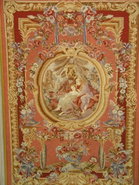 1024A: A Framed Tapestry Courting Couple