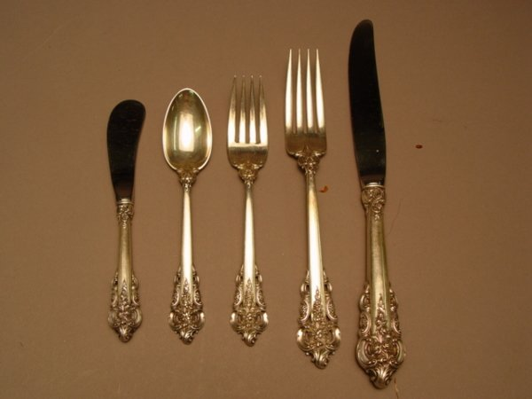 161: 36 pc. Wallace Grand Baroque Sterling Silver