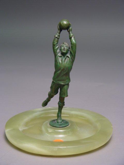 202: Austrian Bronze Soccer Player