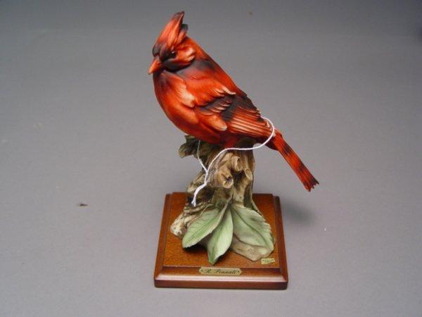 1027: 5 Armani Bird Figurines Sparrow Cardinal Bluebird - 2