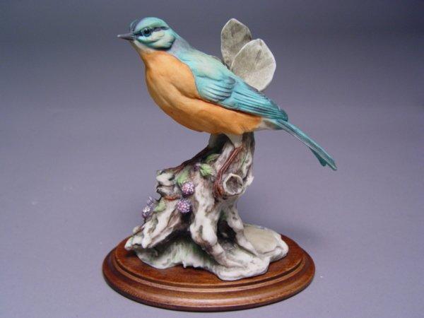 1027: 5 Armani Bird Figurines Sparrow Cardinal Bluebird - 4