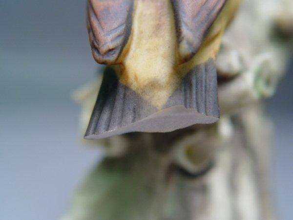 1027: 5 Armani Bird Figurines Sparrow Cardinal Bluebird - 7