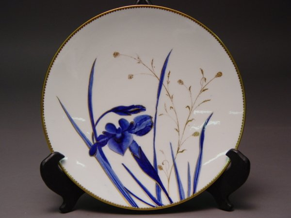 1015B: Hand Painted 19th C. English Bone China Dessert