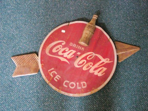 1010: Coca Cola Button Arrow Sign
