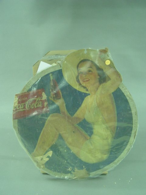 1011: Coca Cola Girl in Swimsuit Cutout Sign