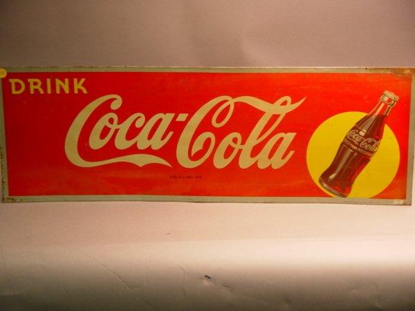 1014: Coca Cola Tin Advertising Sign