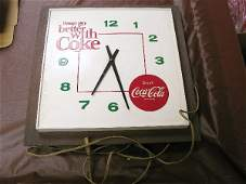1019: Coca Cola Electric Lighted Wall Clock