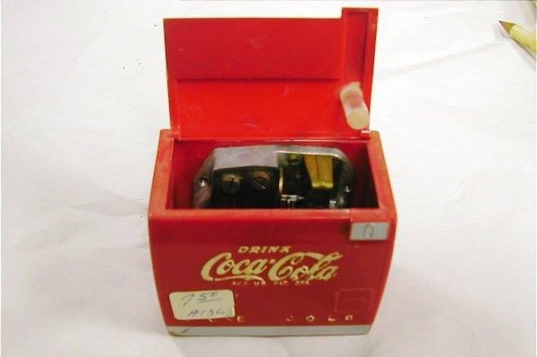 1020: 2 Coca Cola Miniature Cooler Music Box