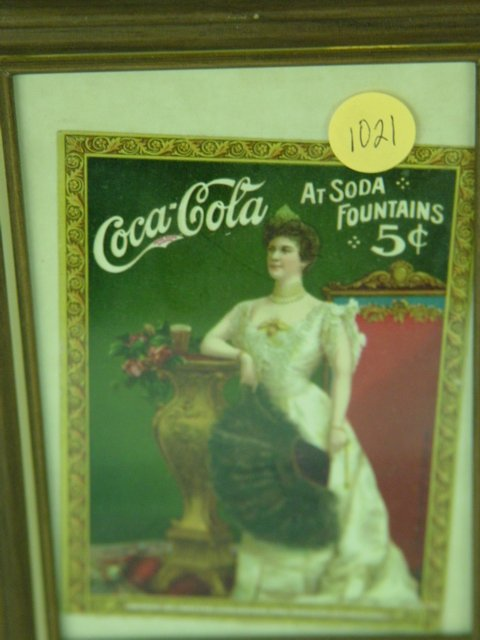 1021: Lillian Nordica Coca Cola Ad Card