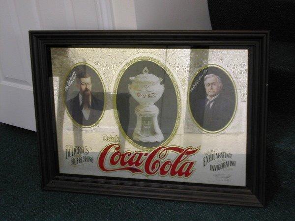 1022: 1st ed Coca Cola Clan Collectors Mirror 1977