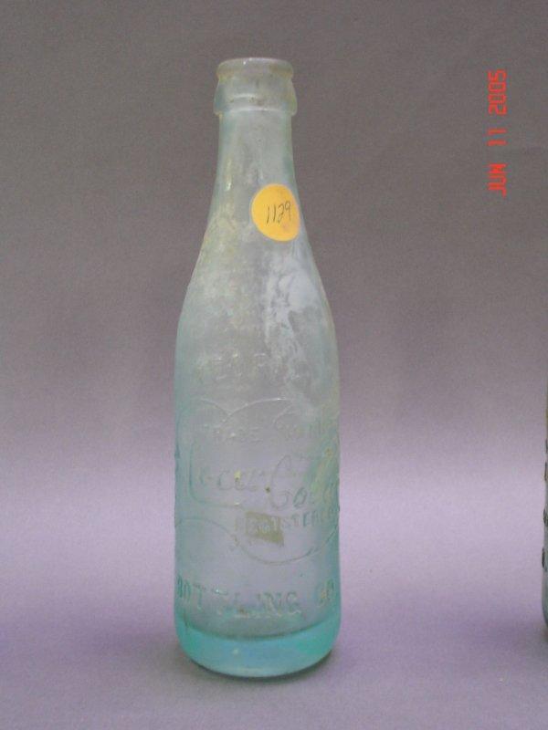 1129: Coca Cola Vintage Bottle Peoria Blue