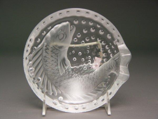 111: A Lalique Koi Fish Crystal Ashtray