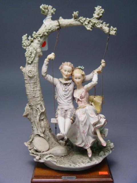 105: Armani Capodimonte Figurine Couple In Swing