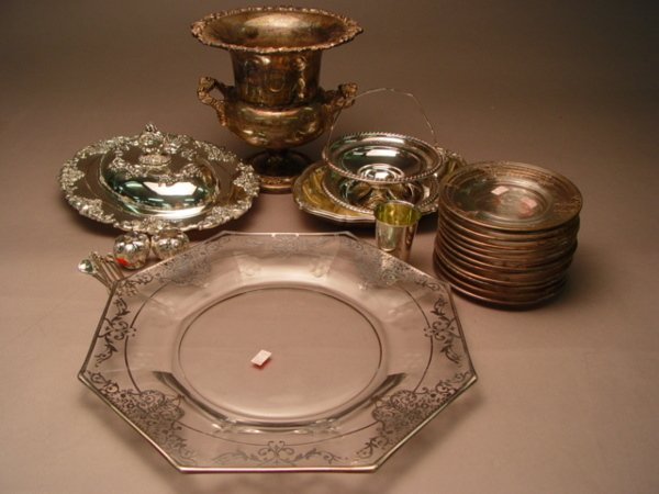 149: Group of Sterling & Silver Plate Items