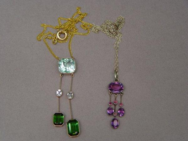 308: Two Antique Deco Necklaces
