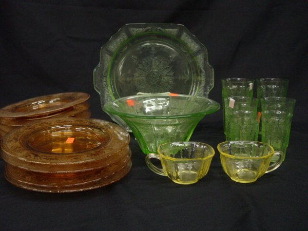 3: Collection of Depression Glass Table Artic