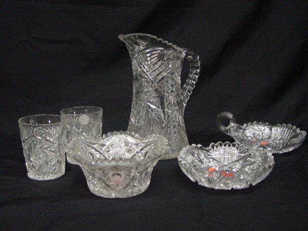 5: American Brilliant Cut Glass Table Article