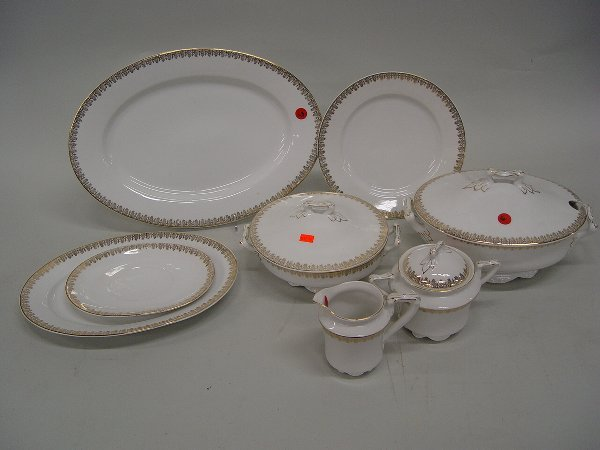 6: Austrian porcelain Partial Dinner Service
