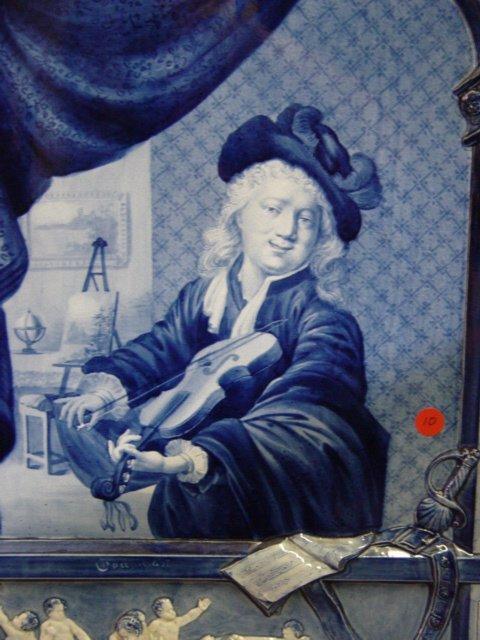 10: A Delft Pottery Plague 19th Century blue