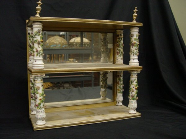 19: A Meissen Style Porcelain Hanging Shelf h