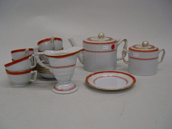 20: A Copeland Spode Stoneware Tea Set compri