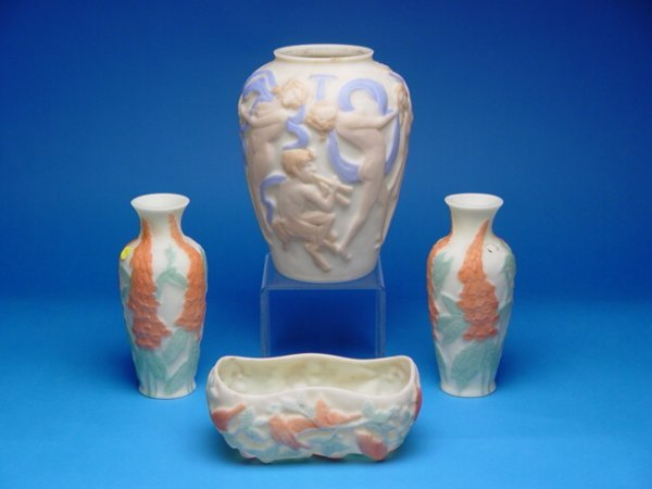 "1002: ""4 Pieces Consolidated Phoenix Glass,tw"