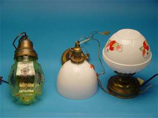 Group Of Three Hanging Light Fixtures,