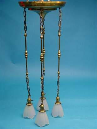 Victorian Brass Hanging Light Fixture,