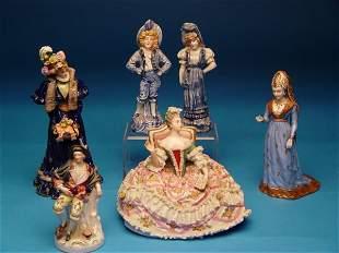 """Group of Six Porcelain Figurines,Inclu"