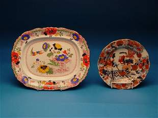 """Mason's Imari-Style Plate & Platter,co"
