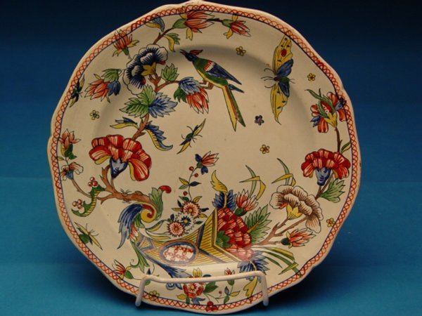 "1012: ""Two 19th c. French Gien Faience Plates"