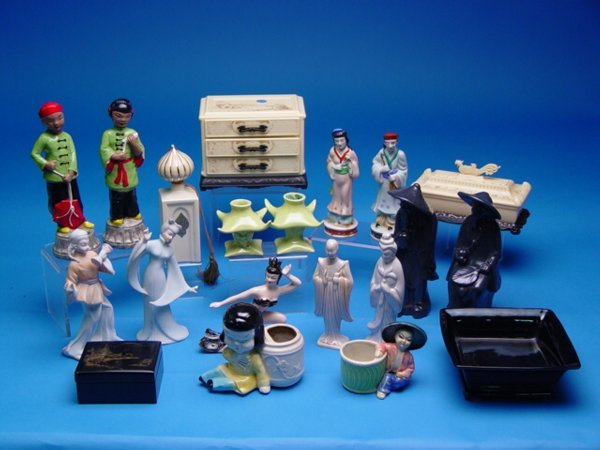 "1020: ""Group of 1950's Chinese Decorative Ite"