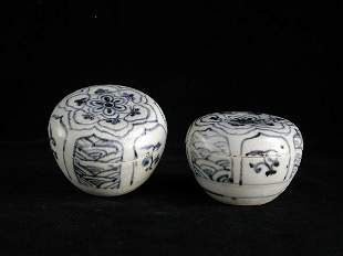 """""""Two Vietnamese Covered Boxes; 15th/16th"""
