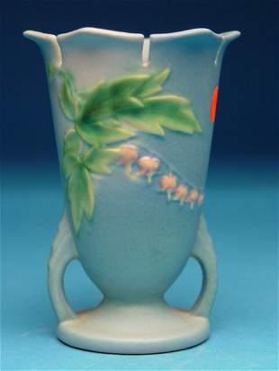 """""""Roseville Two Handled Pottery Vase, Blee"""