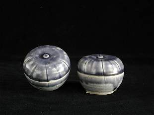 """""""Pair of Vietnamese Covered Melon Boxes 1"""