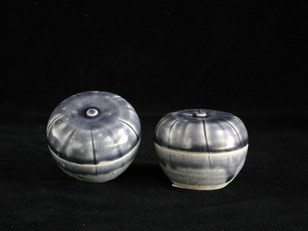 """15: """"Pair of Vietnamese Covered Melon Boxes 1"""