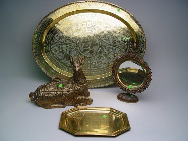 1108: Collection of Brass & Gilt Metal Decora