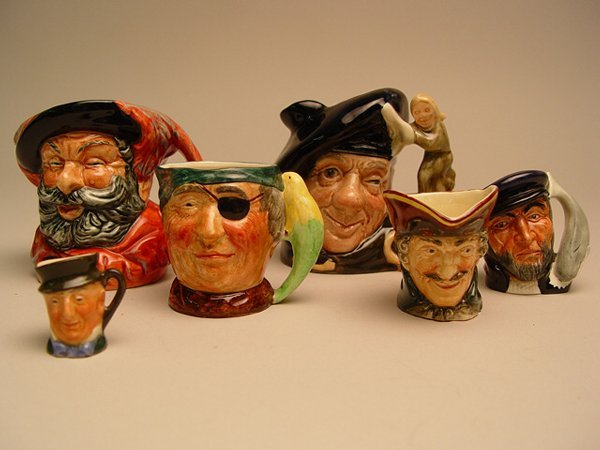 1119: A Group of Doulton Character Jugs