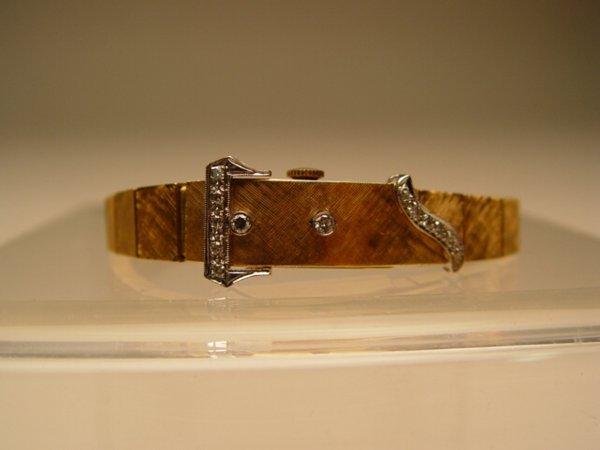 2001: Lady's 14k Gold & Diamond Wristwatch